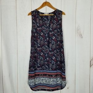 Beach Lunch Lounge Boho Paisley Florals Shift